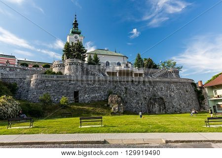View To The Church St. Andrew, A Famous And Historical Buildings In Ruzomberok, Slovakia
