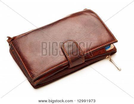 Braun Leder Geldbörse