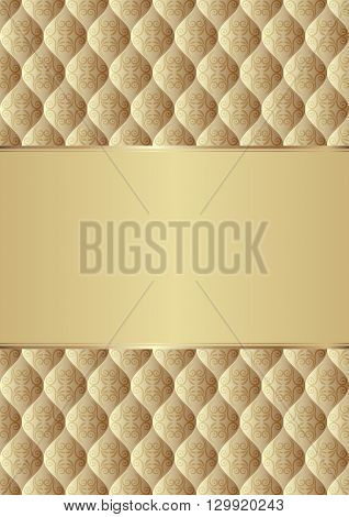 decorative background with antique pattern - vector illustration
