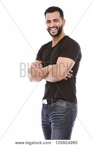 Casual Man On White
