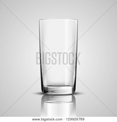 Empty Drinking Glass Cup on White background. Illustration Icon Vector.