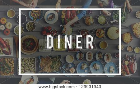 Diner Food Eating Party Celebration Concept