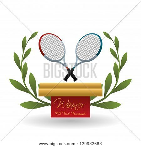 Tennis concept with icon design, vector illustration 10 eps graphic.