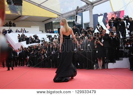 Toni Garrn attends the screening of 'Loving' at the annual 69th Cannes Film Festival at Palais des Festivals on May 16, 2016 in Cannes, France.