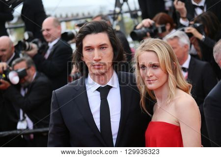 Joanne Tucker, Adam Driver attend the screening of 'Loving' at the annual 69th Cannes Film Festival at Palais des Festivals on May 16, 2016 in Cannes, France.