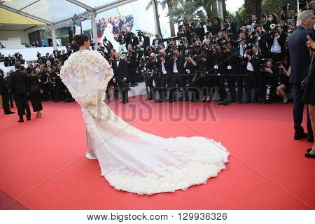 Sonam Kapoor attends the screening of 'Loving' at the annual 69th Cannes Film Festival at Palais des Festivals on May 16, 2016 in Cannes, France.