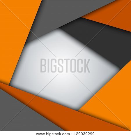Abstract orange gray triangles background vector eps 10