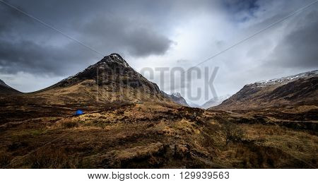 camping in the beautiful Glencoe Scotland UK.