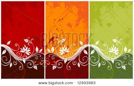Colorful floral backgrounds