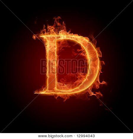 Fonte ardente. Letra D