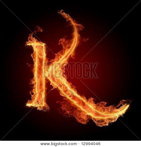 Fuente de fuego. Letra K