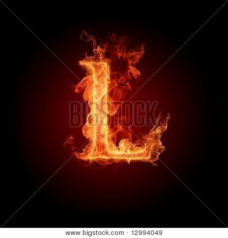 Fuente de fuego. Letra L