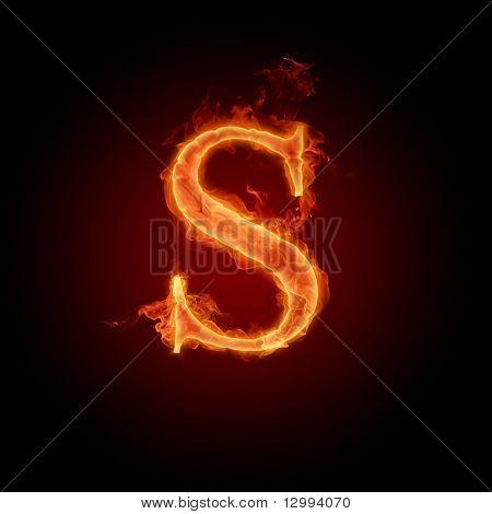 Fuente de fuego. Letra S