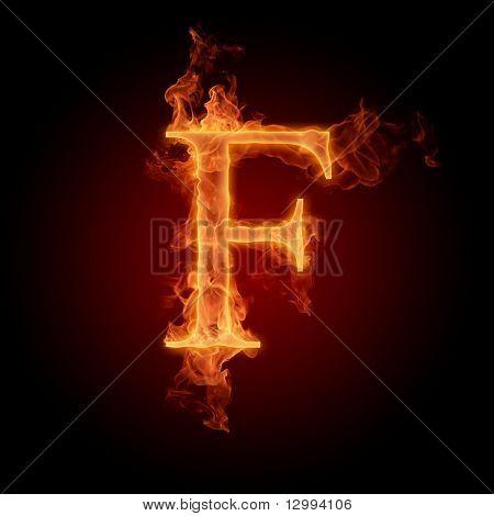 Fuente de fuego. Letra F