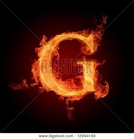 Fonte ardente. Letra G