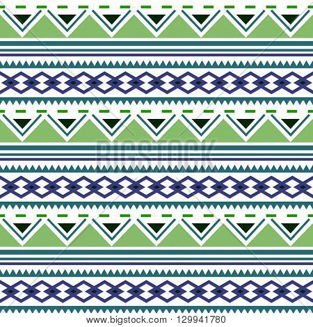 Seamless geometric pattern. Aztec boho ornamental style. Ethnic native american indian ornaments. Vecror.