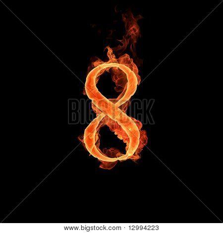 Fiery font. 8