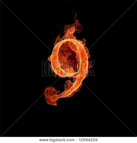 Fiery font. 9