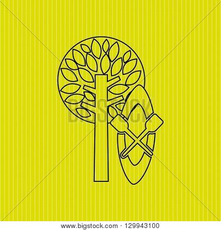 Forest reserve design, vector illustration eps10 graphic