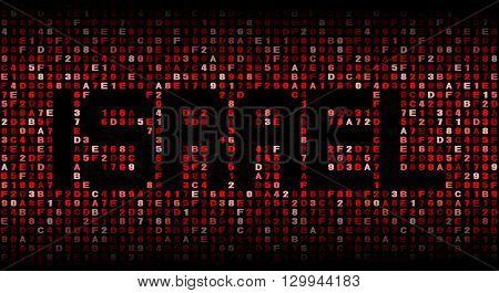 Israel text on hex code illustration