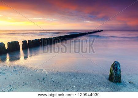 Beautiful Long Exposure Sunset Shot