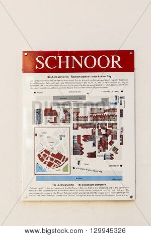 Touristic Map Of The Quarter Schnoor In Bremen