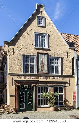 Old Restaurant Kaiser Friedrich  Located In The Medieval Neighborhood Schnoor