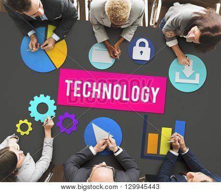 Business Technology Advanced Graphics Concept