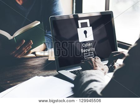 Cyber Security Protection Firewall Interface Concept