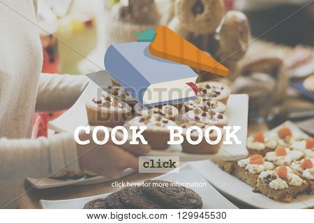 Cook Book Food Menu Meal Concept