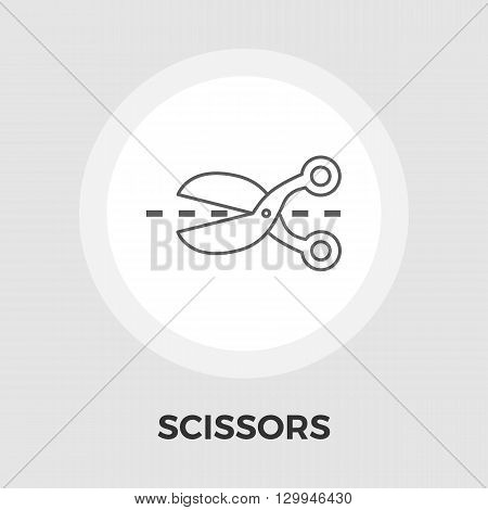 Scissors Icon Vector. Flat icon isolated on the white background. Editable EPS file. Vector illustration.