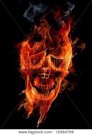 Feuer-Schädel