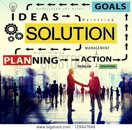 Solution Problem Solving Ideas Strategy Concept