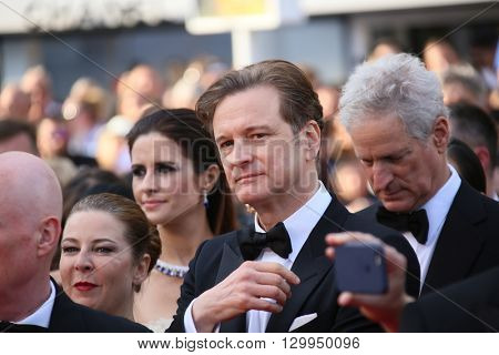 Colin Firth attends the 'Loving' Photocall at the annual 69th Cannes Film Festival at Palais des Festivals on May 16, 2016 in Cannes, France.