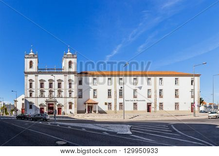 Santarem, Portugal. September 11, 2015: Hospital de Jesus Cristo Church. 17th century Portuguese Mannerist architecture, called Chao.