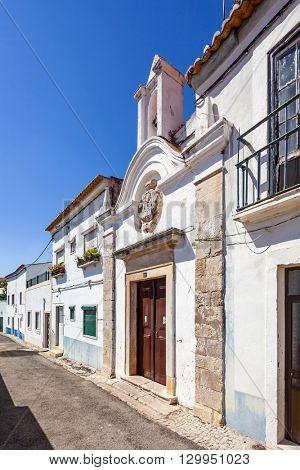 Santarem, Portugal. September 11, 2015:  Ermida da Memoria (Memory Hermitage). 17th century chapel.