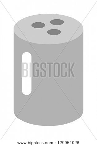 Salt shaker vector illustration.