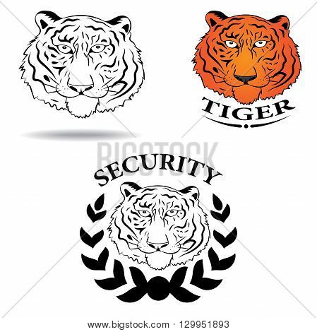Abstract logo with the image of a tiger