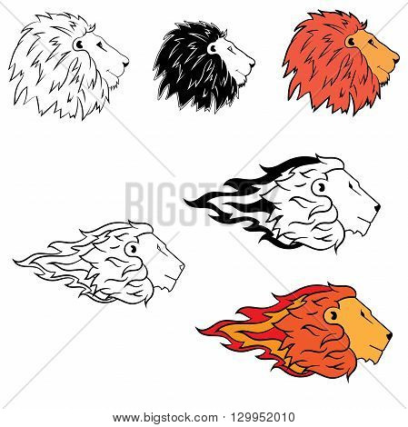 Abstract logo with the image of a lion