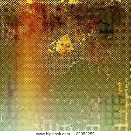 Rough textured backdrop, abstract vintage background with different color patterns: yellow (beige); brown; red (orange); green; gray