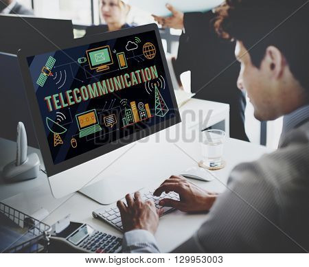 Telecommunication Connection Links Networking Concept