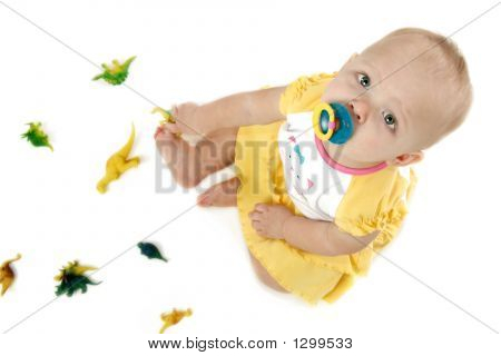 Baby With Dinosaurs