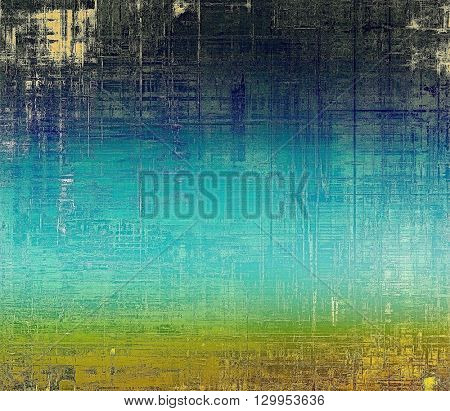 Retro vintage colored background with noise effect; grunge texture with different color patterns: yellow (beige); brown; green; blue; cyan