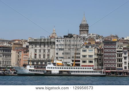 Karakoy And Galata Tower In Istanbul, Turkey
