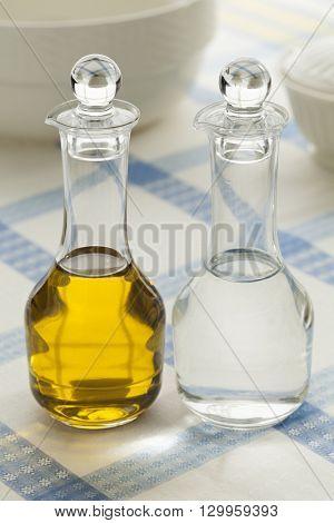 Oil and vinegar bottles for condiment