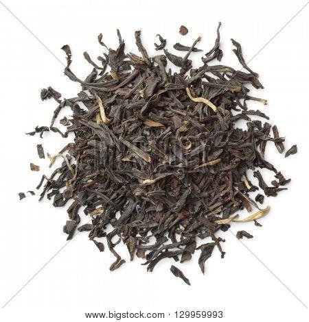 Heap of Nan-Yu tea on white background