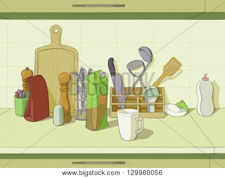 Kitchen still life