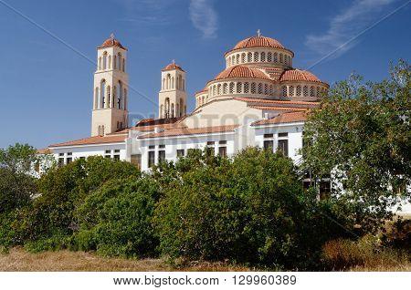 Traditional christian rthodox church in Limassol, Cyprus island,Europe