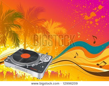 Beach party - Vector musical background