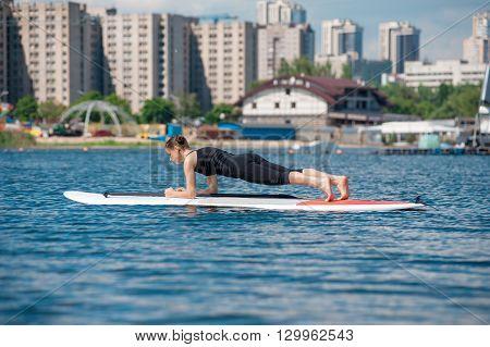 Sup Slender Girl Yoga Meditation06